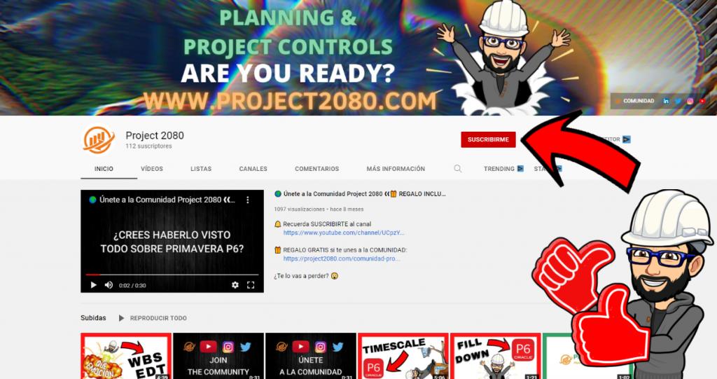 Suscríbete a nuestro canal de Youtube: Project 2080